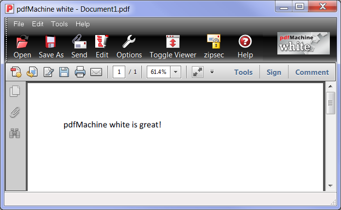 pdfMachine white Screen shot