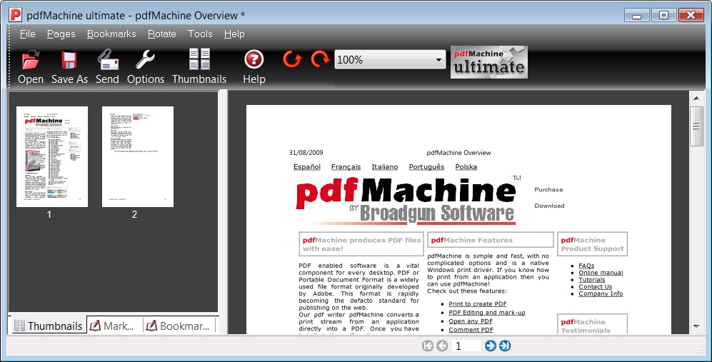 pdfMachine full screenshot