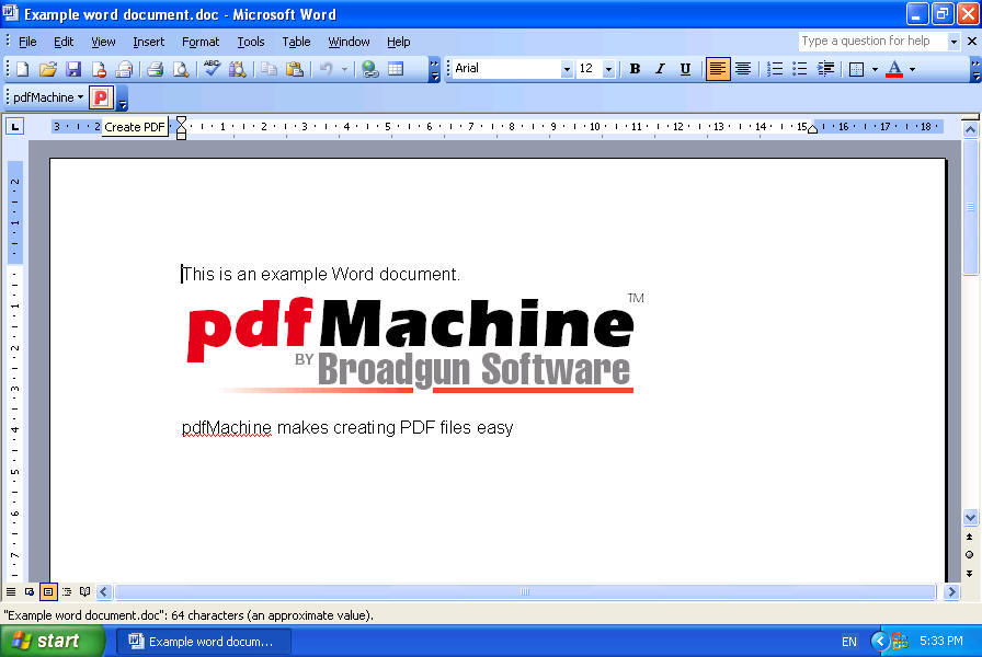 pdfMachine - Word To PDF