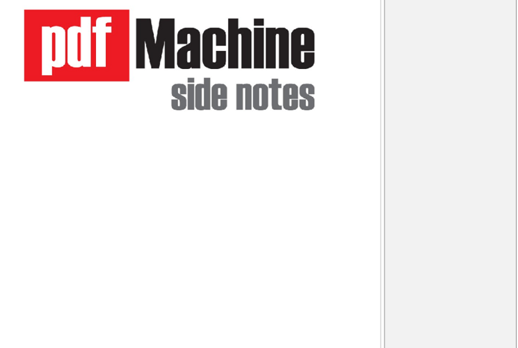 pdfMachine side notes